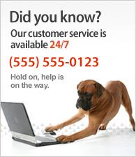 Nasz dział obsługi klienta dostępny jest 24 godz. na dobę. Zadzwoń do nas (555) 555-0123.
